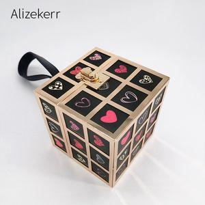 Magic Cube Box Evening Clutch Bag Mulheres 2020 New Square Wedding Preto Clutch Purse Ladies Mini bolsa Moda