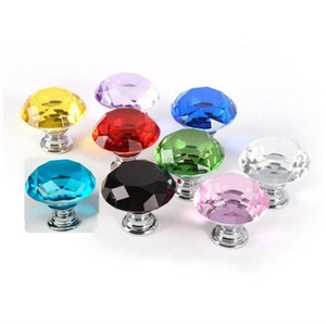 30 milímetros diamante Projeto gaveta do armário Handle único furo gaveta do armário Roupeiro Maçaneta Europeia Móveis americano e hardware DHA449