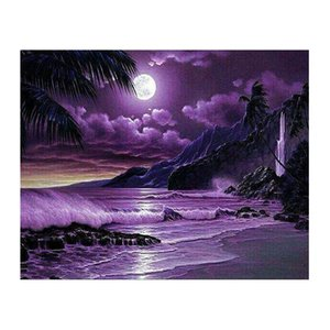 New Arrival 5D DIY diamond Painting Moon Sea Diamond Embroidery Full Square Moasic Cross Stitch Kits Wall Home Decoration Gift