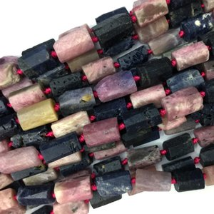 Natural Genuine Raw Mineral Blue Purple Pink Red Sapphire Ruby Nugget Free Form Loose Rough Matte Faceted Necklace Bracelet Beads 06057