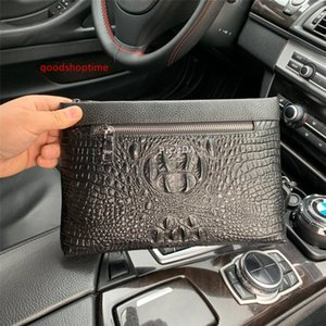 New fashion Travel Toiletry Pouch Protection Makeup Clutch Women Men Genuine Leather Waterproof Cosmetic Bags For Women