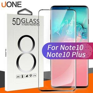 Pour Samsung Note 10, plus 5D cas d'empreintes digitales amical verre trempé unclock Curve bord Protecteur d'écran pour Galaxy S10 s9 S20 avec le paquet