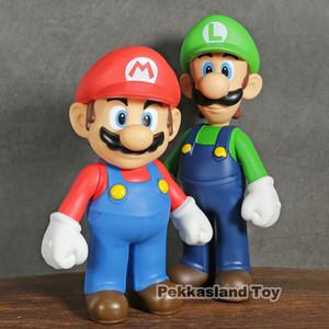 Süper Mario Bros Luigi Mario Yoshi PVC Eylem Müşterek Çocuklar Oyuncak hareketli 22-24cm T200321 Şekil