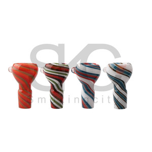 New Full Color Wig Wag Glass Bowl 14mm 18mm Male Glass Bongs Bowl Pipe Heady Glass Bowls For Dab Rigs Water Pipes