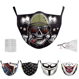Festa Anime Urso bonito Máscara Adulto Fancy Dress metade inferior da face Boca Muffle máscara reutilizável poeira quente Windproof Cotton Black Mask