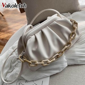 Candy Color PU Leather Shoulder Messenger Bags For Women 2020 Small Crossbody Bag Travel Chain Handbags and Purses KL843