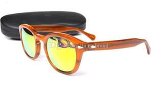Nuevo diseñador 44/46 / 49mm Lemtosh Gafas de sol Calidad Redonda polarizada UV400 Gafas de sol Marco con caja