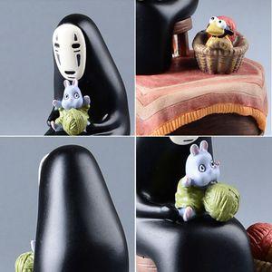 Studio Ghibli Meu Vizinho Totoro Resin Music Box japonesa Anime Action Figure Miyazaki Hayao Totoro figura da boneca Crianças Brinquedos Modelo