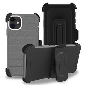 Pour Moto E6 Case Strip Couverture arrière robuste Robot avec étui de ceinture couverture de téléphone Clip pour Moto E6 plus G7 G7 jeu