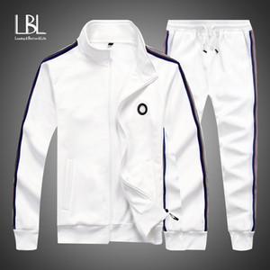 Männer-Sets Mode 2020 Herbst-Frühlings-Sportanzug 2ST Sweatshirt + Jogginghose Herrenkleidung 2 Stück Sets Schlank Anzug Hoodies
