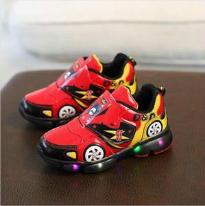 Shoes Meninos crianças Led Esportes com luzes Primavera correndo Shoes Crianças criança sapatos outono