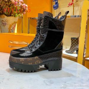 Beste Qualität Art und Weise starke untere Schuhe Leder Luxus Lace-up Ankle Boot Frauen-Outdoor-Schuh Martin Bootss Wüste Stiefel große size10