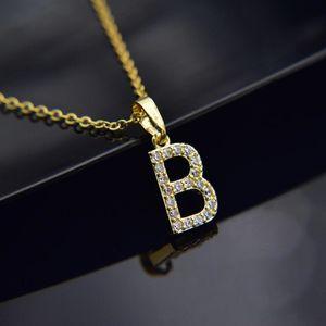 Cubic Dichiarazione zircone Alphabet 26 iniziale pendente Mini A Z-Pendente Oro Argento di colore lettera gioielli Shinning Collares