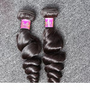 A 8 &Quot ;-30 &#039 ;&#039 ;Inch 100 %Indian Unprocessed Human Hair Extensions Natural Color Loose Wave Hair Bundles Bella Hair