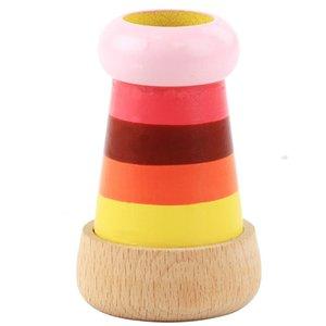 Bee-Olho mágico de madeira Multi-prisma Efeito Kaleidoscope Children Grasp Educacionais Educação Brinquedos