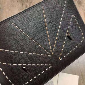 Designer- bolsas monedero de lujo del cuero genuino de los monederos bolsa de embrague hombre billetera de cuero genuino de las mujeres de calidad superior del monstruo ojos carteras de bolsa