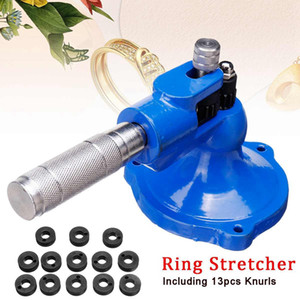 Freeshipping Ring Stretcher Expander Sizing Machine Roller For Stone Set Jewelry Making Tool Material de acero sólido con 13 moletas diferentes