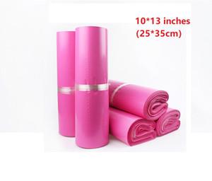 10 * 13 zoll Rosa Poly Mailing taschen Kunststoff Umschlag Express taschen 25 * 35 cm Kurier Taschen 100 teile / los Wholesle