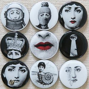 Souvenir dolabı Magnet Aimant Imanes De Nevera Ev Dekorasyonu Juguetes İnsanlar Mıknatıs Yüz Çıkartma 9PCS / Seti