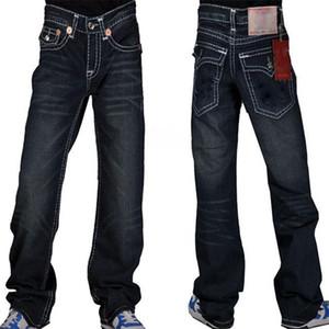 jeans True pour les hommes en détresse vêtements Ripped mode Pantalons Skinny Slim Moto Moto Biker Hip Hop Denim homme Pantalons de RELIGIONING