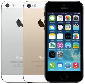 Reformado original para iPhone 5S con la huella digital de 4,0 pulgadas 1 GB de RAM 16 GB / 32 GB de teléfono celular / 64GB de doble núcleo de 8.0 megapíxeles A7 IOS 4G LTE 1pcs libre de DHL
