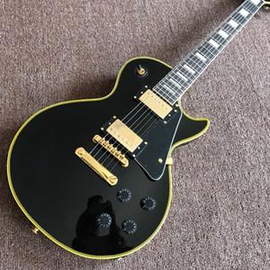 Personalizado padrão 6 stings Guitarra elétrica. Fingerboard de cor. preto cor guitaar.support personalização. guitarra