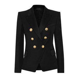 Yushu 2019 femmes Costumes d'affaires Blazer Mode manches longues Manteau Boutons Lion Double VESTE Costumes Femme