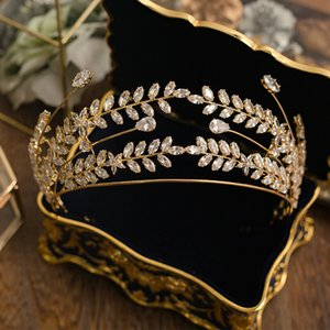 Bavoen Royal Princess Oro Brides Hairbands barocco zircone Spose Tiaras Hairbands cristallo Wedding Accessori per capelli T190628