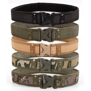 2020 New Army Style Combat Belts Quick Release Tactical Belt Fashion Men Canvas Waistband Outdoor Hunting 5colors 130cm