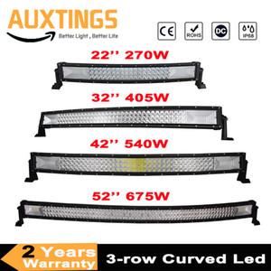 "3-Row 22"" 32"" 42"" 52"" Curved luz LED Bar llevada campo a través Bar Combo luz de trabajo de la viga 12V 24V para 4x4 4WD SUV ATV Coches"