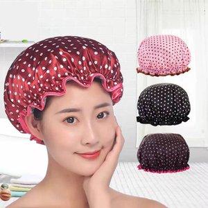 Femmes Bonnet de douche douche imperméable élastiques belle impression Casquettes pour dames Chapeau de fille de cheveux Bath Spa Caps Salon