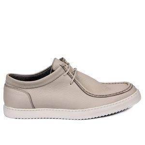 Парус Lakers-бежевая кожа мужская обувь