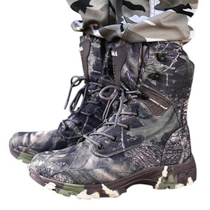 Man Boots with Military Type for Men Combat Shoes Men's Outdoor Fashion Hiking Boots Desert Special Training Camouflage Boots