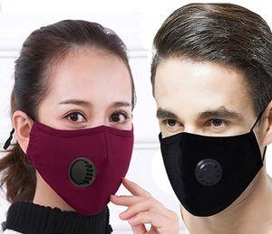 Máscara PM2.5 algodón de protección a prueba de Haze a prueba de polvo con la respiración de la válvula puede insertarse en Filtro