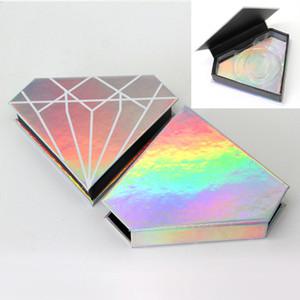 20pcs Großhandel falsche Wimpern box individuelles Logo gefälschte Wimpern 3D-Nerz-Boxen Verpackung Faux cils Streifen Diamant Magnet Fall leer