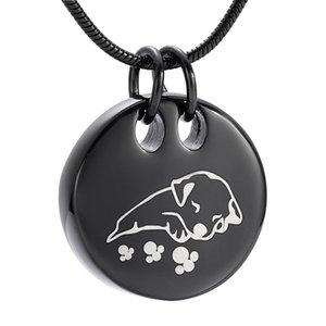 LkJ9941 Freie Filling Kits !!! Schlafender Hund Pet Urn Halskette, Schmuck Einäscherung Asche Anhänger Memorial Keepsake