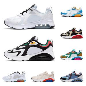 Nike air max Nuevo 200 hombres zapatos para correr Metálico Oro Rasta Desierto arena Royal Pulse transpirable para hombre entrenador aire para hombre zapatillas deportivas corredor