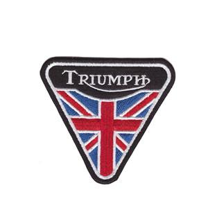tipos de ferro Triumph britânica Motociclista Vintage shirt Jacket Tampão clássico tecido emblemas bordados em patch