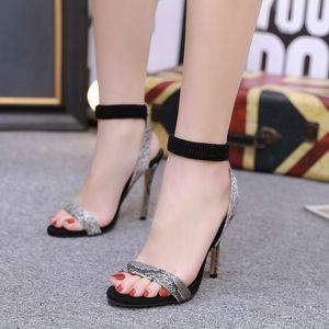 Hot2019 Змея с принтом Leopard High Rome Fine с босоножками Женская обувь Да 40 Код