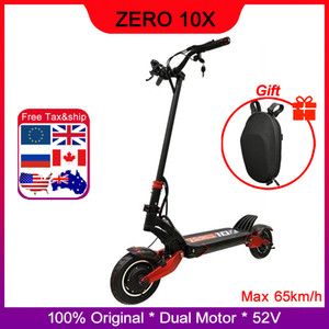 Newest Zero 10X scooter dual motor electric scooter 52V 2000W e-scooter 65km h double drive high speed scooter off road