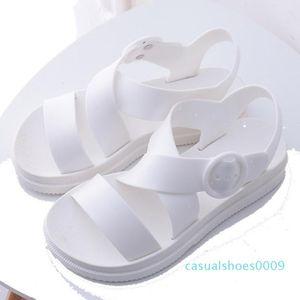 BONJEAN Women Shoes Open Toe Buckle Soft Jelly Sandals Female Casual No Slip Flat Platform Beach Shoes 2020 Summer c09