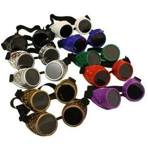 Урожай ретро Steampunk очки очки Victorian Punk готические солнцезащитные очки лето Вождение Путешествия Cyber Goggles Pilot заварки Солнцезащитные очки DH