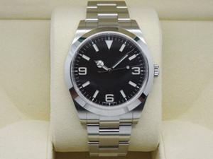 Hochwertige Uhr GMT Explorer 39mm 2813 Uhrwerk Mechanisch Automatisch Schwarzes Zifferblatt Datum Herrenuhr Herrenuhren