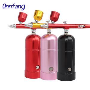 Onnfang Wireless compressore d'aria portatile Airbrush 0.30.20.5mm Spary pistola compongono Torta Body Art Model Car acqua di riempimento dello spruzzatore