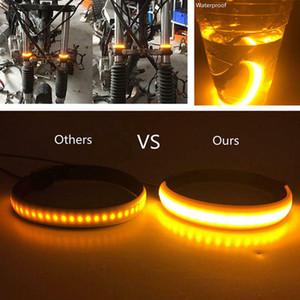 2pcs Motorbike Fork LED Turn Signal Light Waterproof -absorbent Turn Lamp XR-Hot