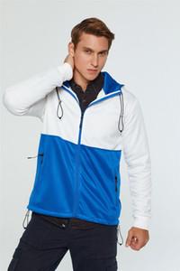 Mens Jackets Hoodies Windbreaker Primavera Outono de correspondência de cores Zipper Cardigan com capuz com cordão Casual Tamanho Moda Casacos Vestuário UE