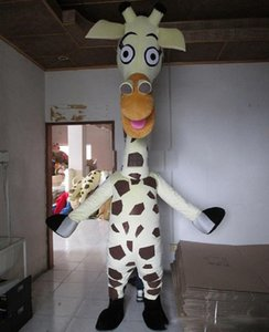 Nuevo 2019 Venta de fábrica Erect walking Special White Giraffe the Handcot Mascot Costume Adult Mascot Costume