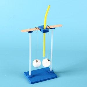 Creativo DIY hecho a mano la pelota que no puede ser arrastrada por el principio de juguete ciencia equipo experimento de física del estudiante