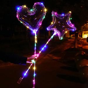 CRESTECH de LED se encienden Bobo Globos, 20 pulgadas de Bubble Bobo globos, globo de la fiesta de cumpleaños de Navidad Decoración Luz