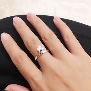 Uygulanabilir Toptan-Smart Aşk Yüzük 925 Gümüş cz Elmas Jewels Aşk Kilit Lady Sevgililer Günü Hediye Yüzük